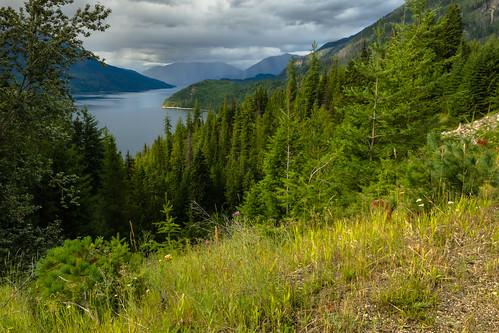 bc centralkootenayregion selkirkmountains slocanlake valhallaprovincialpark nearslocan stormyskies