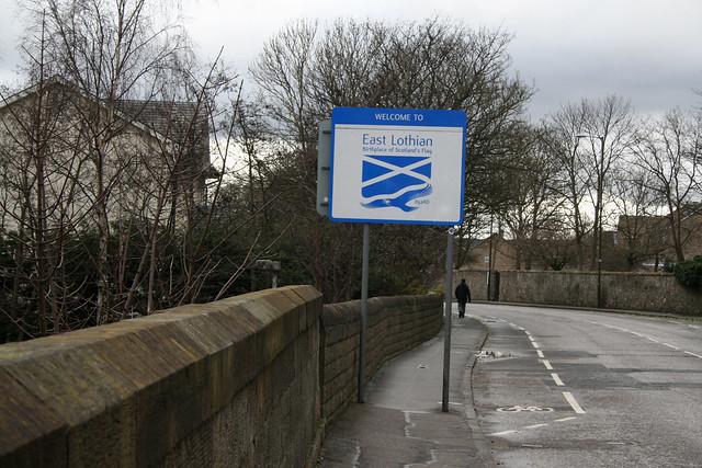 Entering East Lothian
