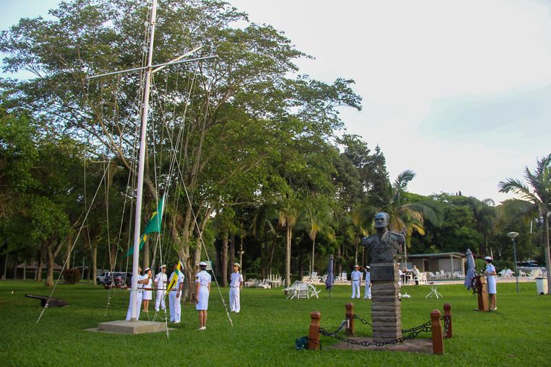 Cerimônia à Bandeira aos atletas dos 7MM