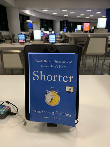 The first advance reading copy of SHORTER, which just arrived at Public Affairs today (where I happened to be for a meeting). Very exciting to see the real book.