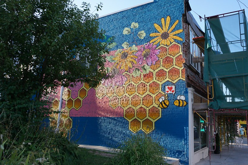 Honeycomb Mural in Buffalo, N.Y., Aug. 2019