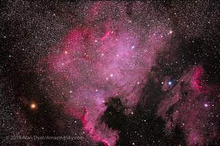 Canon EOS Ra Test Image — NGC 7000 North America Nebula