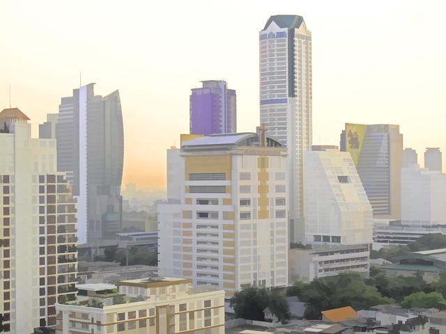 0345aTSc A Topaz view of Bangkok