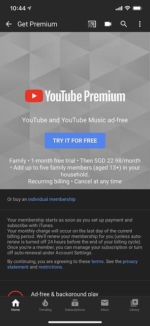 YouTube Premium - Family