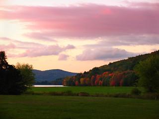 Sunset at Quaker Lake