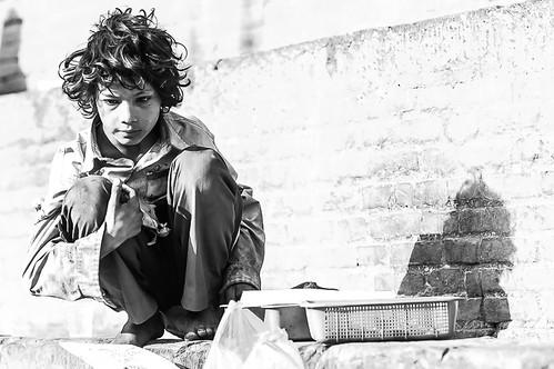 portrait poor child boy durbarsquare shadow black white bw blackandwhite face highkey forgottenpeople nepal basantapur kathmandu hardlife