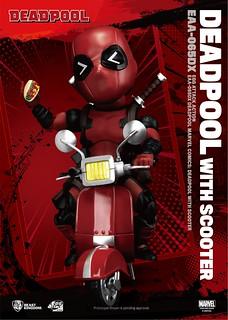 騎著機車歡樂上路!還送你一件內褲~ 野獸國 Egg Attack Action 系列【死侍&速克達機車】Deadpool with Scooter EAA-065DX