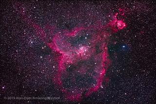 Canon EOS Ra Test Image — Heart Nebula IC 1805 in Cassiopeia