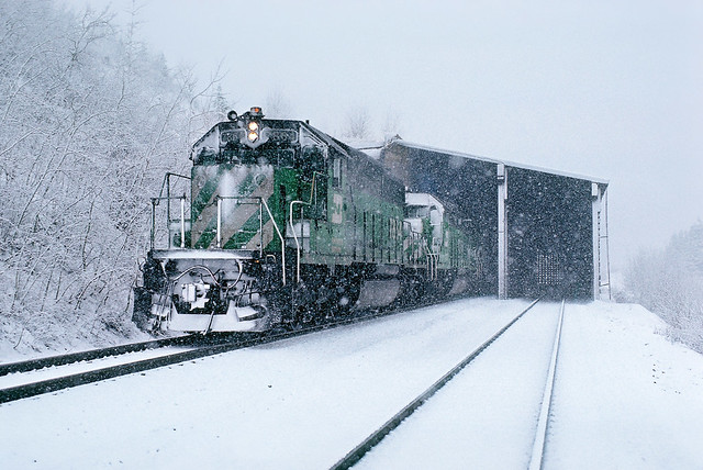 Shed 10.7 in the snow