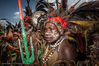 On the photo: tired faces of Sine Kawale at Goroka Mask Festival. PNG, Sep 2019