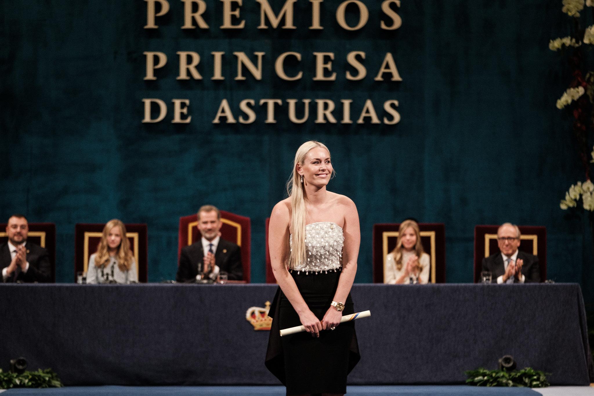 Lindsey Vonn premio Princesa de Asturias del Deporte 2019.  Foto: FPA  Yeray Menéndez
