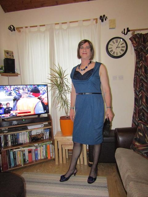 2-11-19 Lindy Bop 'Vanessa' Blue Swing Dress (1)