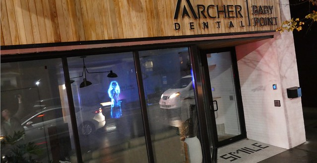 Halloween Ghost at Archer Dental Baby Point, 387 Jane St.  (Jane and Annette)