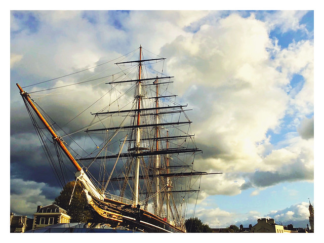 Atmospheric Clouds Forming Over The Cutty Sark