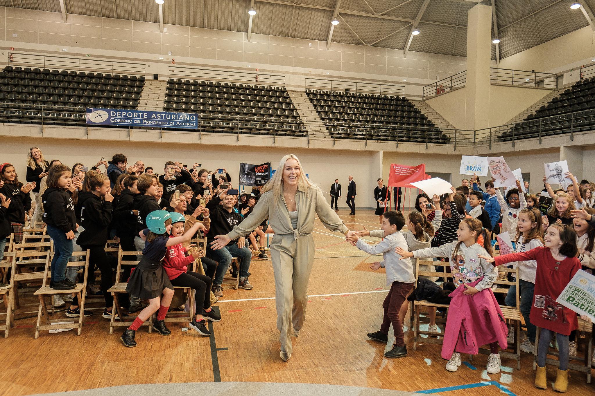 Lindsey pasándoselo como una niña más. Foto: FPA Yeray Menéndez