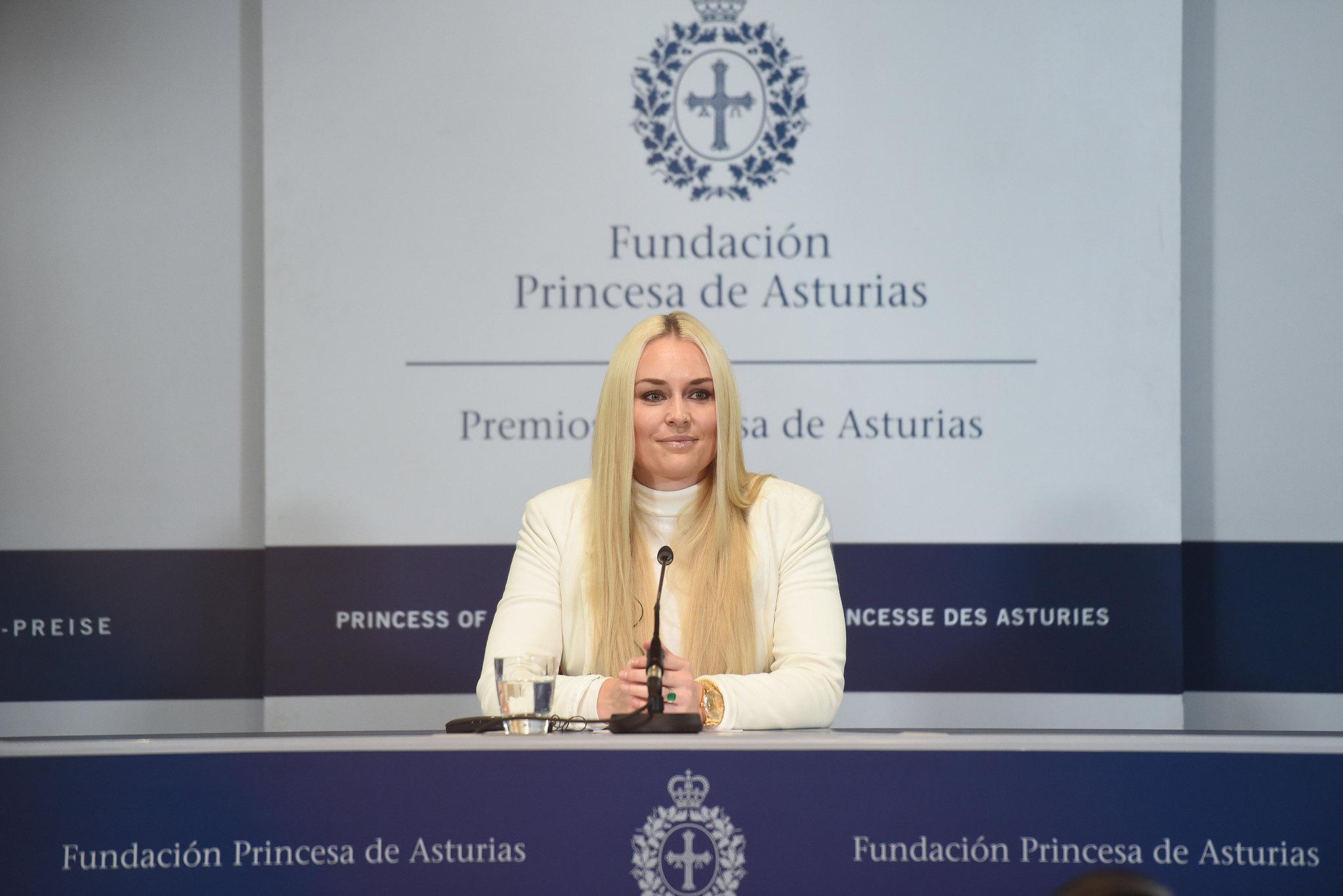 Rueda de prensa Lindsey Vonn. Foto: FPA Iván Martínez