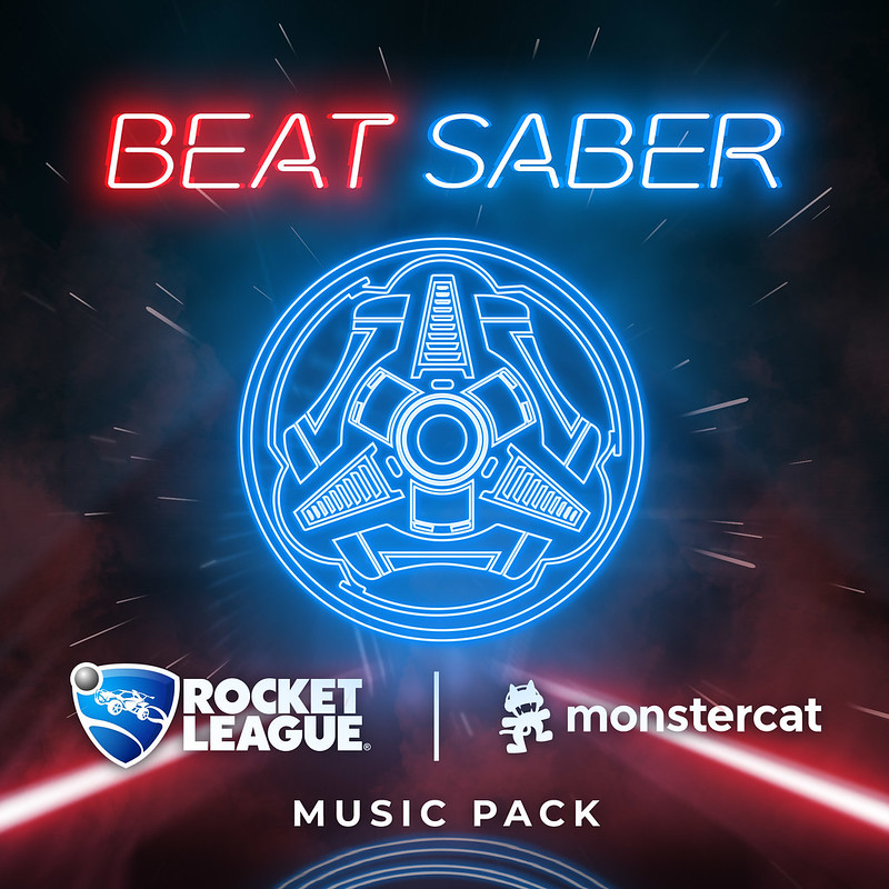 Beat Saber x Rocket League mashup on PS4