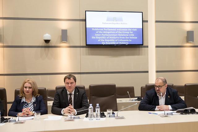 06.11.2019 Întrevederi cu delegația Grupului pentru relații interparlamentare cu Republica Moldova din cadrul Seimas-ului Republicii Lituania