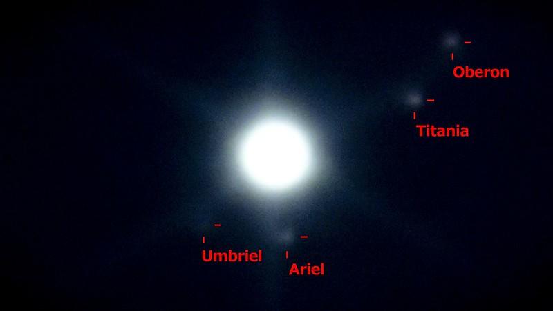 天王星と衛星 (2019/11/6 21:30)