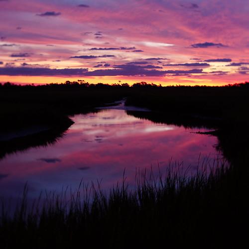sunrise baldheadisland marsh reflections pentax k1 lensbaby velvet iridientdeveloper