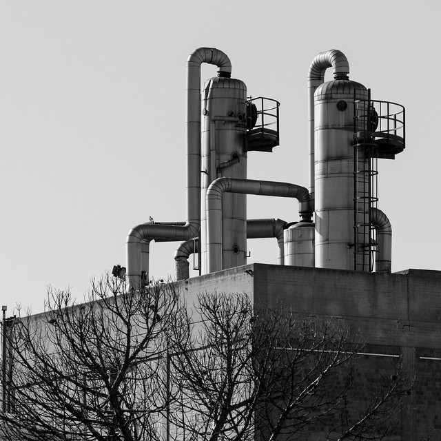 Campagna Industriale N.18: Autunno. Industrial countryside N.18: Autumn.B&W