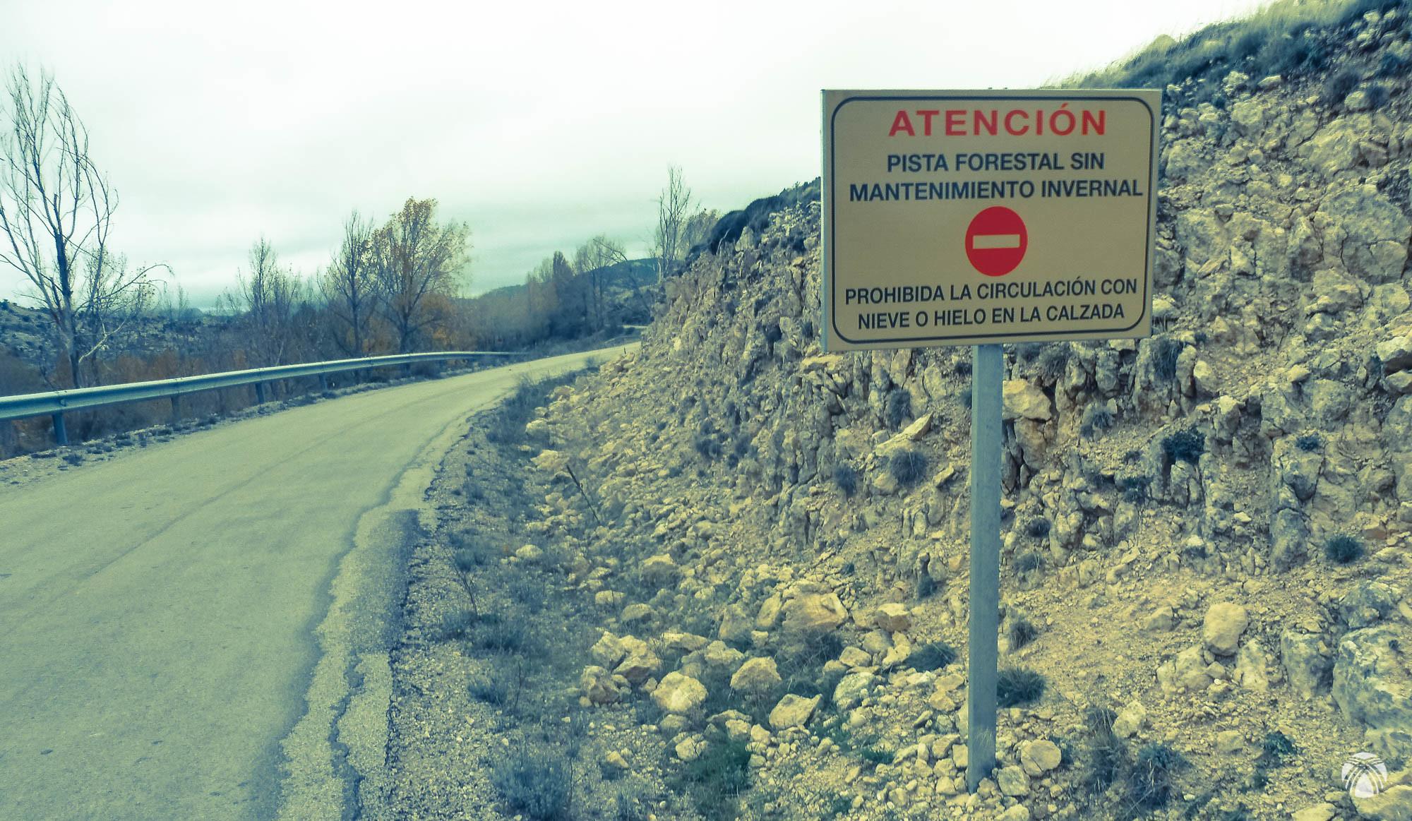Llegada a la carretera principal que une Santiago con Pontones