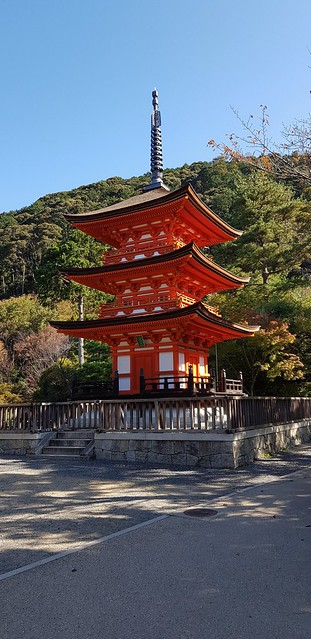 Pagoda at Kiyomizu-dera Temple in Kyoto,  Japan