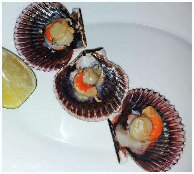 Kleine Jakobsmuscheln mit Limette * Small scallops with lime * Pequeñas vieiras con lima *   .   SAM20191105-001