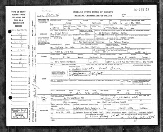 2019-11-06. Hartsock death certificate