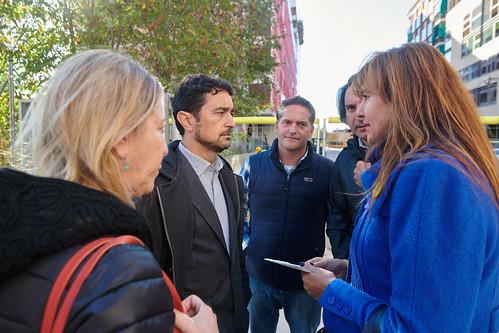 Roda de premsa de Laura Borràs i el conseller Calvet a la Sagrera (6-11-2019)