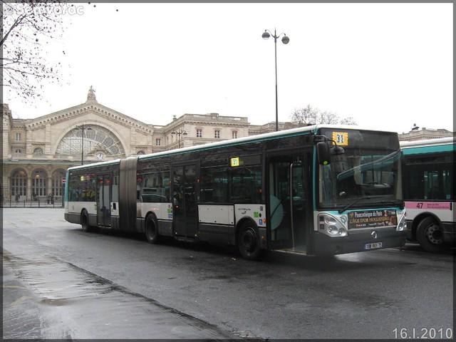 Irisbus Citélis 18 – RATP (Régie Autonome des Transports Parisiens) / STIF (Syndicat des Transports d'Île-de-France) n°1820