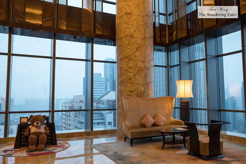 Lobby area of The Ritz Carlton, Chengdu