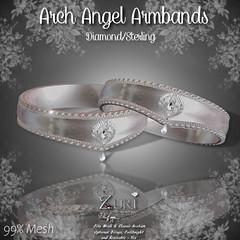Zuri's Arch Angel Armbands P-Mesh Diamond-Sterling