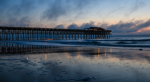 gardencitybeach gardencity southcarolina pier sunrise nature ocean clouds dawn sunset