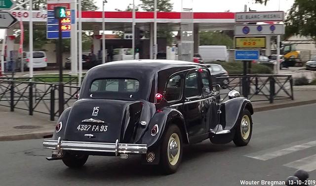 Citroën Traction Avant 15 Six 1954