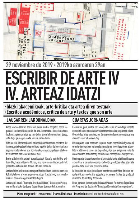 FOLLETO IV JORNADAS ESCRIBIR DE ARTE_2019_A5-1