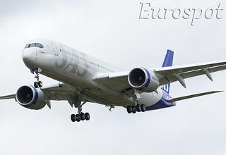 F-WZHJ AIRBUS A350 SAS, first flight