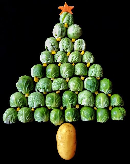 Vegetable christmas tree!