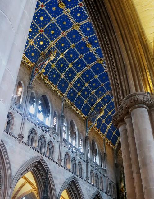 Voûte de la nef, XVe, cathédrale de la Sainte Trinité, (XIIe-XIIIe), Carlisle, Cumbria, Angleterre, Royaume-Uni
