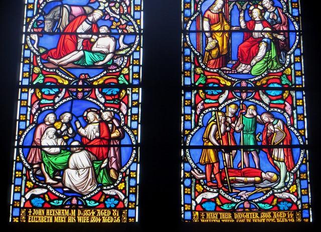 Vitrail, XIXe, cathédrale de la Sainte Trinité, (XIIe-XIIIe), Carlisle, Cumbria, Angleterre, Royaume-Uni