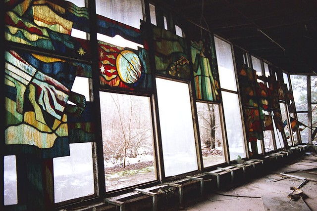 We look like stained glass windows show me what you can see