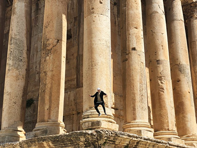 Ancient city of Baalbek, Great Temple and Me.