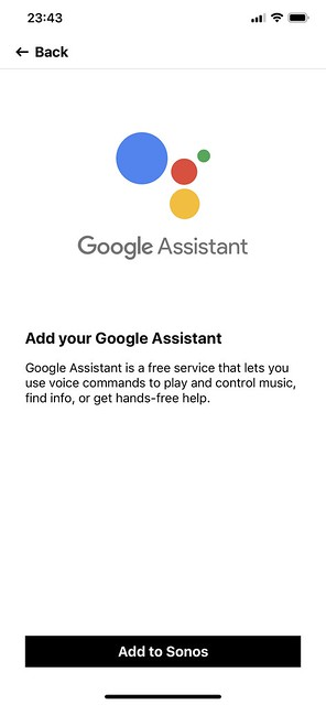 Sonos - Add a Service - Step 1