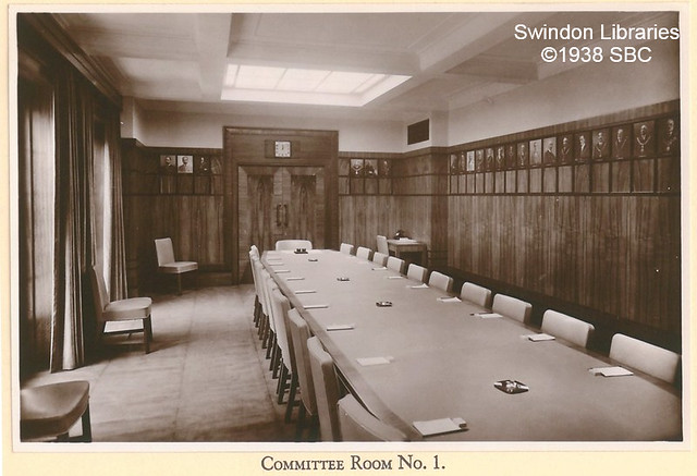 1938: Swindon Civic offices - Committee Room no.1 (Euclid Street)