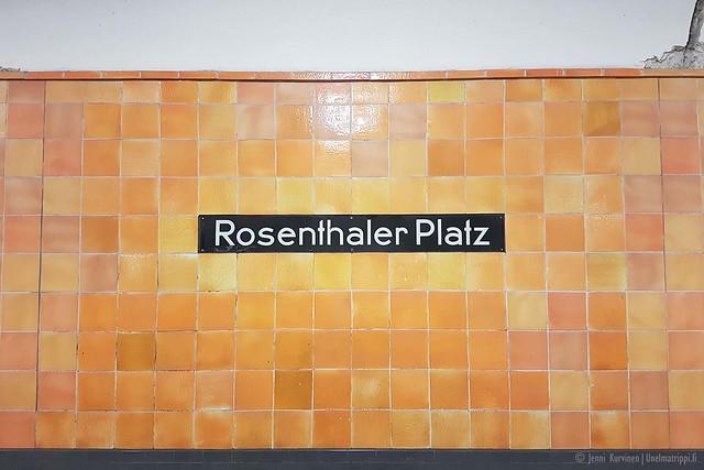 Rosenthaler Platz -metroaseman kyltti