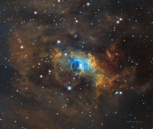 Bubble Nebula (NGC7635) NB in SHO palette | by Carballada
