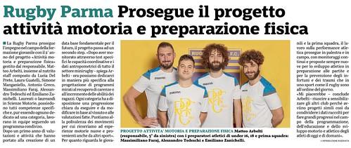 Gazzetta di Parma 06.11.19 - Progetto attività motoria e preparazione fisica