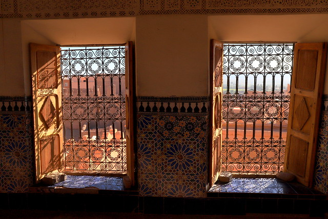 Windows in the Kasbah di Taourirt