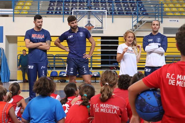 SOCIAL |  Misters y Matulionis visitan a la cantera del Real Club Marítimo Melilla