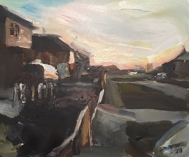 Estate view acrylic 12 by 10 inches